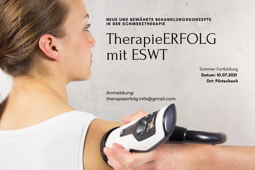 TherapieErfolg mit ESWT, Stosswellentherapie, Fortbildung, DFP Fortbildung Stosswelle, Dr. Knobloch, Dr. Swart, Dr. Pernern, PEROmed, Stoßwellengeräte, Kurs